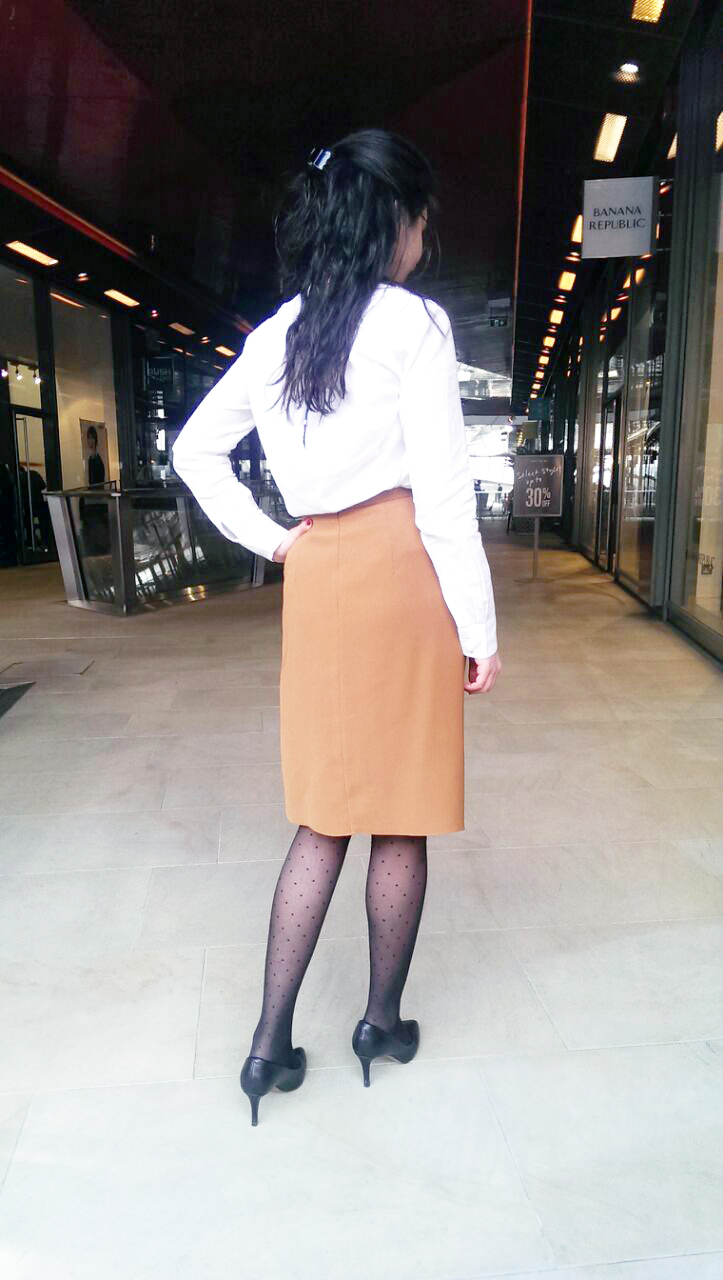 Trendy Workwear Ladylike knot skirts toffee workwear formals