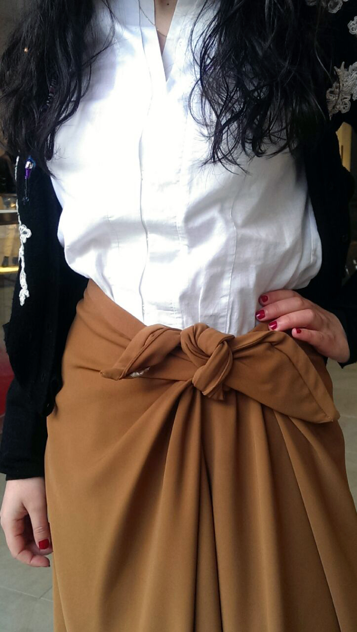 Trendy Workwear Ladylike knot skirts toffee workwear formals