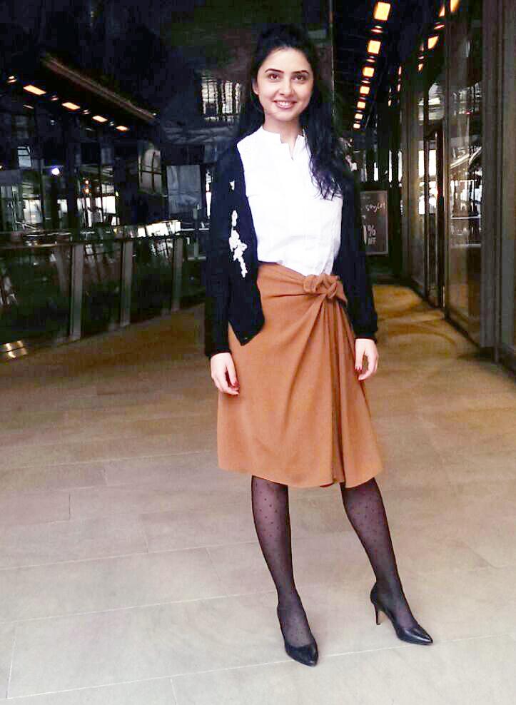 Ladylike knot skirts toffee workwear formals
