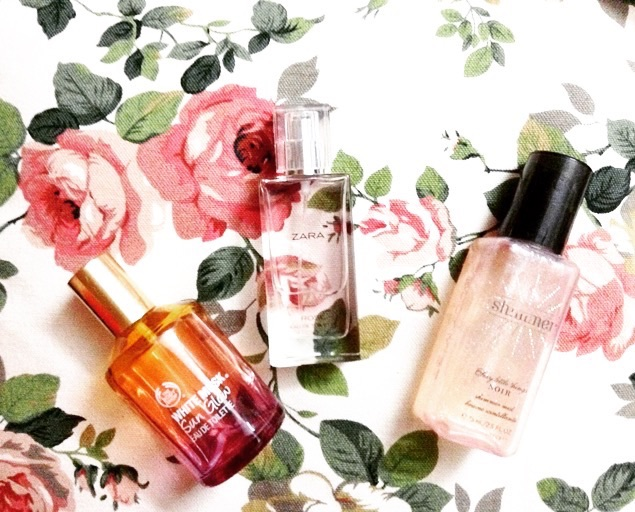 Everyday Perfumes Zara Rose Body Shop Musk and Victorias Secret